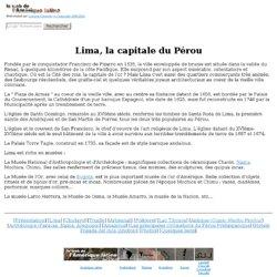 Lima la capitale du Pérou