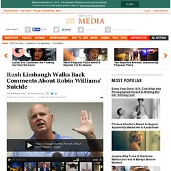 Rush Limbaugh Walks Back Comments About Robin Williams' Suicide