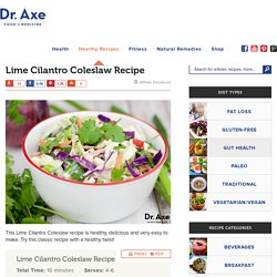 Lime Cilantro Coleslaw Recipe
