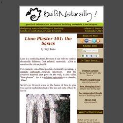 Lime Plaster 101: the basics