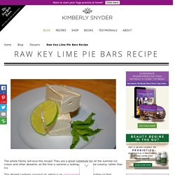 Fat-Burning Key Lime Pie Bars Recipe