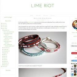 Morse Code Wrap Bracelet