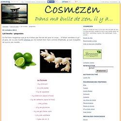 Lait limette - gingembre - cosmezen