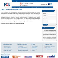 CC Limit or Credit Limit Services Delhi - P4u.co.in