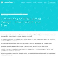 Limitations of HTML Email Design - Email Width and Size