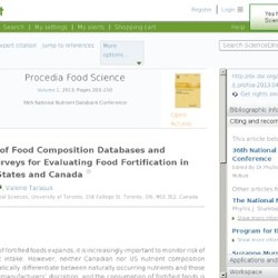 Procedia Food Science Volume 2, 2013, Pages 203–210 Limitations of Food Composition Databases and Nutrition Surveys for Evalua