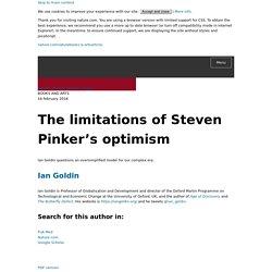 The limitations of Steven Pinker's optimism