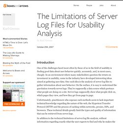 The Limitations of Server Log Files for Usability Analysis