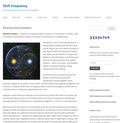 Polarity And LimitationShift Frequency
