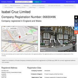 Isabel Cruz Limited 06830496 company information