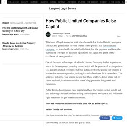 How Public Limited Companies Raise Capital