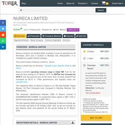 NURECA LIMITED - Company Profile, Directors, Revenue & More