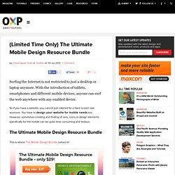 (Limited Time Only) The Ultimate Mobile Design Resource Bundle