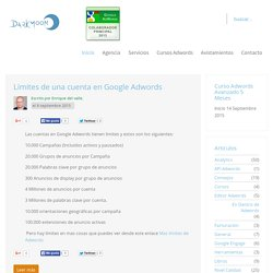 Limites Cuenta Google Adwords