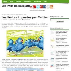 Les limites imposées par Twitter