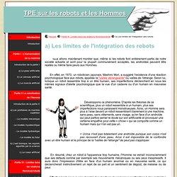 a) Les limites de l'intégration des robots - TPE sur les robots et les Hommes