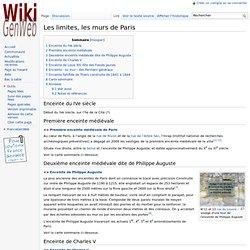 Les limites, les murs de Paris