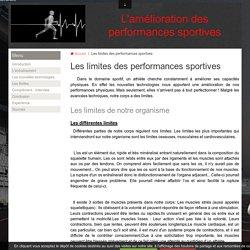 Les limites des performances sportives