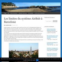 Les limites du système AirBnb à Barcelone