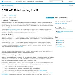 REST API Rate Limiting in v1.1