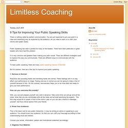 9 Tips for Improving Your Public Speaking Skills