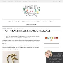 Anthro Limitless Strands Necklace
