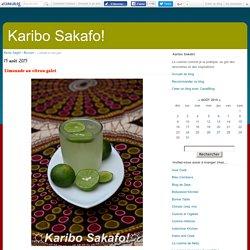 Limonade au citron galet - Karibo Sakafo!
