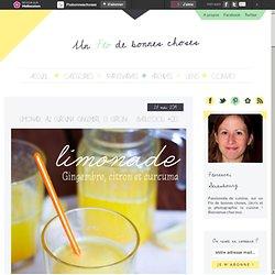 Limonade au curcuma (gingembre et citron) – Battlefood #20