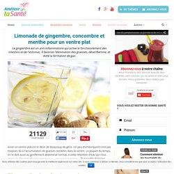 Limonade de gingembre, concombre et menthe pour un ventre plat - Améliore ta santé