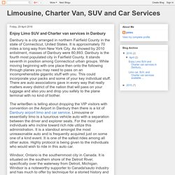 Limousine, Charter Van, SUV and Car Services: Enjoy Limo SUV and Charter van services in Danbury