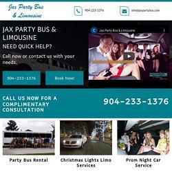 Jax Party Bus & Limousine, party bus rental Jacksonville Beach FL