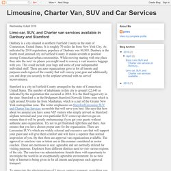 Limousine, Charter Van, SUV and Car Services: Limo car, SUV, and Charter van services available in Danbury and Stamford