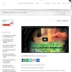 LA LIMPIEZA HEPÁTICA ¡Clave de la Salud! - robertobenitez.info