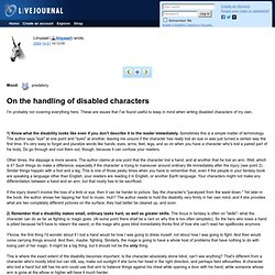 On the handling of disabled characters
