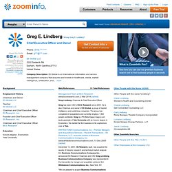 Greg Lindberg: ZoomInfo Business People Information