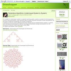 Generative Algorithms: Lindenmayer-System (L-System)