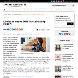 Lindex releases 2016 Sustainability Report l Sustainability News Sweden