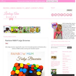 Lindsay Ann Bakes: Rainbow M&M Fudge Brownies