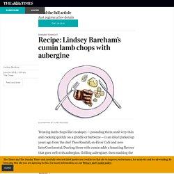 Recipe: Lindsey Bareham's cumin lamb chops with aubergine