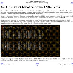 Line Draw Characters without VGA Fonts