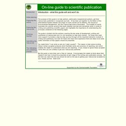 On-line guide to scientific writing