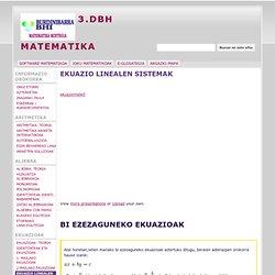 EKUAZIO LINEALEN SISTEMAK - 3.DBH MATEMATIKA