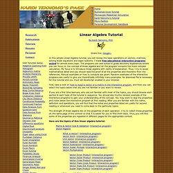 Linear Algebra tutorial