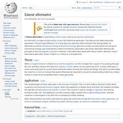 Linear alternator - Wikipedia