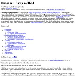 Linear multistep method