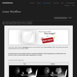 Linear Workflow