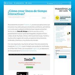 ¿Cómo crear líneas de tiempo interactivas? -