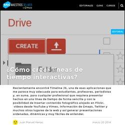 ¿Cómo crear líneas de tiempo interactivas?