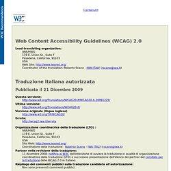 Linee guida per l'accessibilità dei contenuti Web (WCAG) 2.0