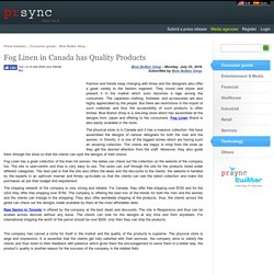 Fog Linen in Canada has Quality Products
